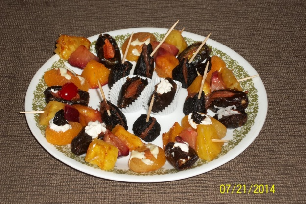 Stuffed dates, figs  and grilled pineapple make wonderfully surprising  appetizers