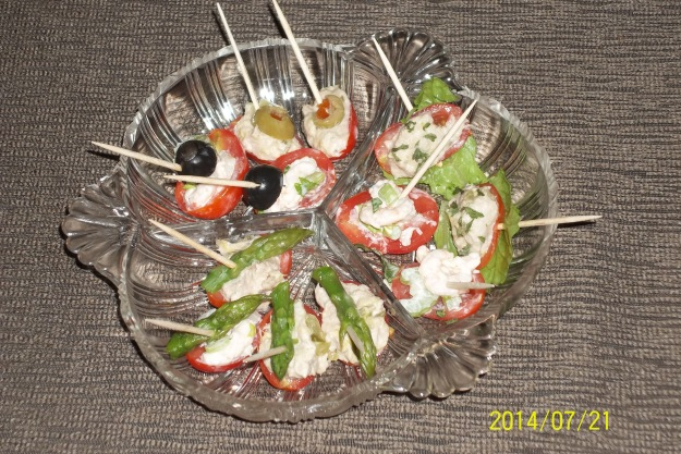 Easy salad stuffed mini tomatoes can be a refreshing appetizer